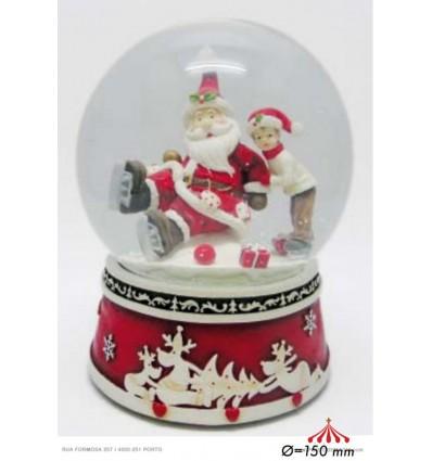 Snow Globe Santa on Skates