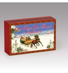 "Caixa de fósforos ""Jolly old St Nicholas"""