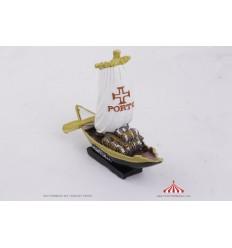 Barco rabelo 15x13 cm