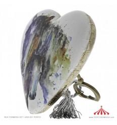 Arco Iris bébé art heart
