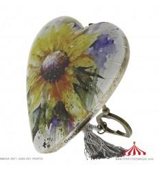 Sunflower Art Heart