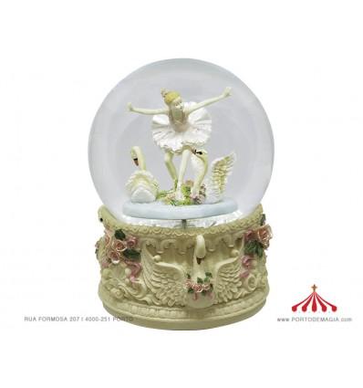 Bola Musical Bailarina c/ Cisnes Branca