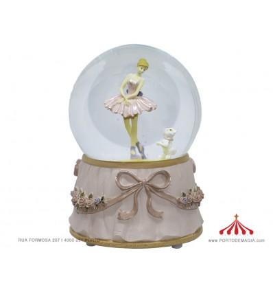 Pink Musical Ball Ballerina w / Dog