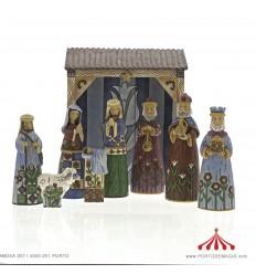 Folklore Nativity 9 pecas