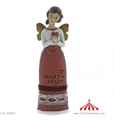Heart to Heart Angel Figure (Coracao para coracao)