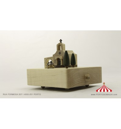 Casamento - Caixa de música em madeira
