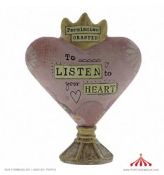 Permission Granted to Listen Heart Sculpture