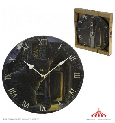 Relógio Gato Preto Lisa Parker