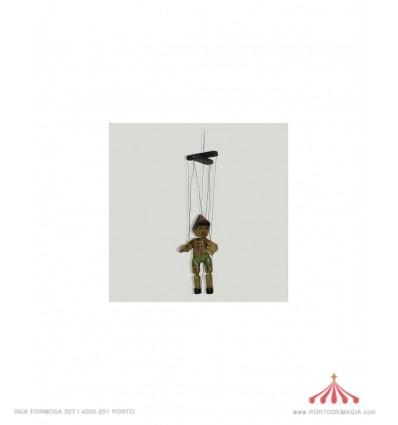 Marioneta do pinóquio antiga 18 cm