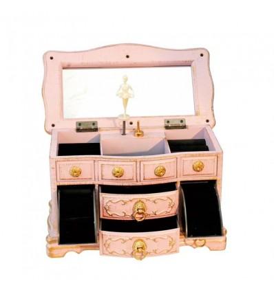Bau de joias rosa