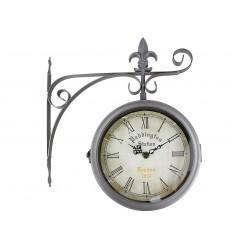 Relógio de Estação Giratório Paddington Cromado Envelhecido