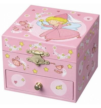 Caixa de Jóias Fada Rosa