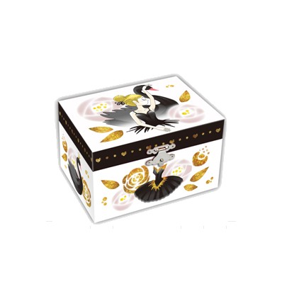 Caixa Musical Cisne Negro s/ gaveta