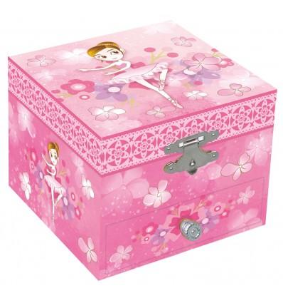 Caixa Musical Bailarina Flores