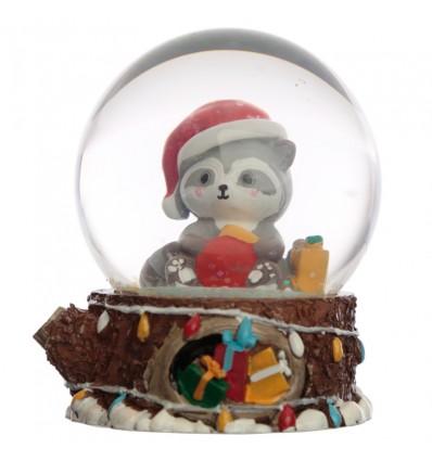 Globo de Neve Racoon Natal