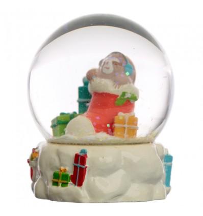 Globo de Neve Preguiça Natal