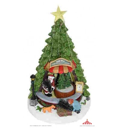 Arvore de Natal com Pai Natal