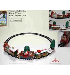 Comboio de Natal 75cm 4 carruagens