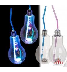 Copo em forma de Lampada com LED