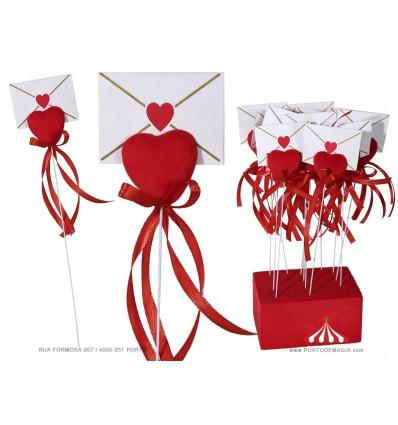 Coração com envelope