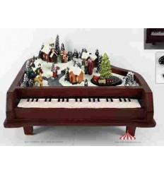 Piano com Cenário de Natal