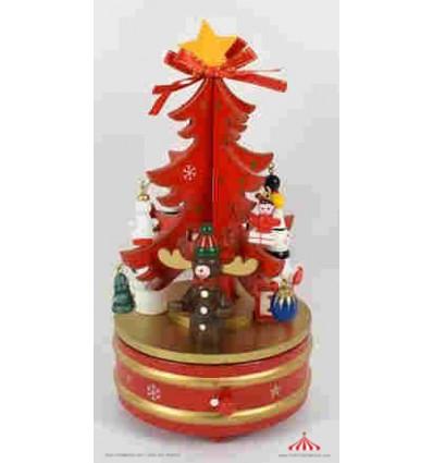 Arvore de Natal Vermelha 21cm