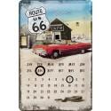 Calendario Metal Route 66