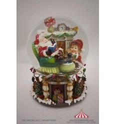 Bola de Neve com Pai Natal