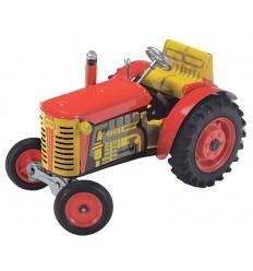 Tractor com reboque em chapa