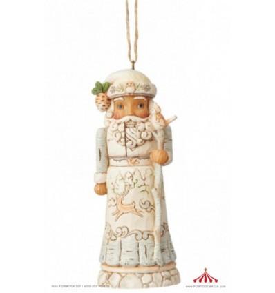 Quebra Nozes White Woodland ornamento
