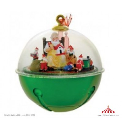 Bola de Natal com Cenário Natalicio