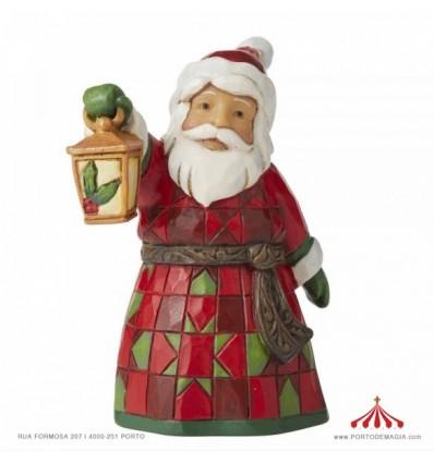 Pai Natal com Lanterna Jim Shore Ornamento