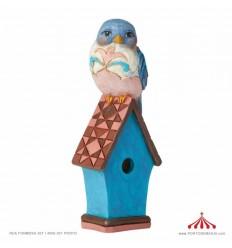 Mini Passaro Azul em Casa Jim Shore