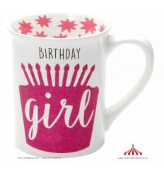 Caneca Birthday Girl Glitter