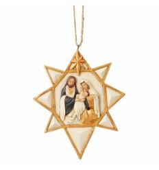 Estrela com Presepio Ornamento
