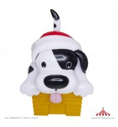 Boneco Solar Cão em Chapéu Pai Natal