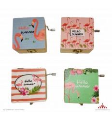 Caixa musical Flamingos