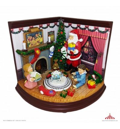 Pai Natal a dar Presentes