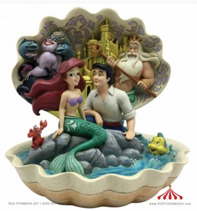 Cenário em concha (Ariel & Prince Eric)