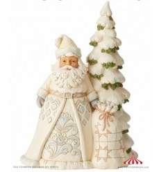 White Woodland Pai Natal com Arvore