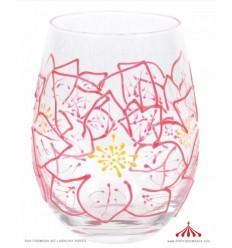 Poinsettias Glass
