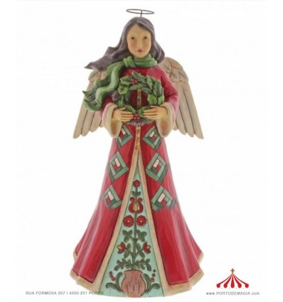 Blessings Of Home and Hearth (Angel with Wreath Figurine)
