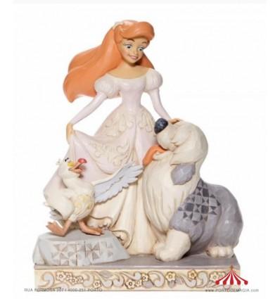 Spirited Siren -White Woodland Ariel Figurine