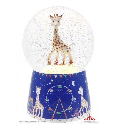 Night Light Snow Globe with Music Sophie The Giraffe© - Batteries included