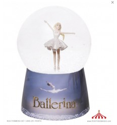 Night Light Snow Globe with Music Ballerina Leap© - Batteries included