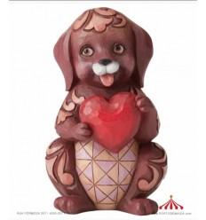 Love Is A Faithful Friend (Dog Holding Heart Pint-Sized)