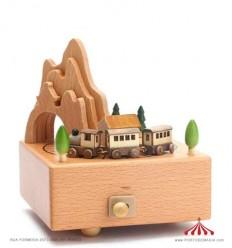 Comboio - Caixa de música em madeira