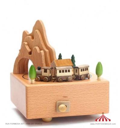 Train - Wooden Music Box