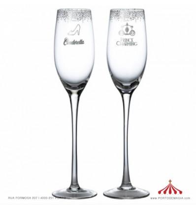 Cinderella Wedding Toasting Glasses - Disney