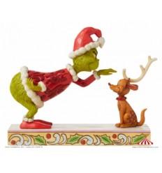 Grinch Patting Max Figurine